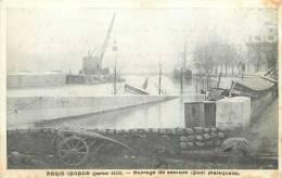 PARIS INONDE 1910 BARRAGE DE SECOURS QUAI MALAQUAIS COLLECTION TARIDE - Alluvioni Del 1910