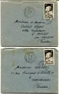PARIS RP AFFRANCHISSEMENTS 2 LAC De 1949 Avec N°845ARAGO ET AMPERE - Marcophilie (Lettres)