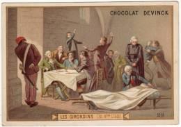 CHROMO Chocolat Devinck Histoire De France Les Girondins (31 Octobre 1793) - Chocolat