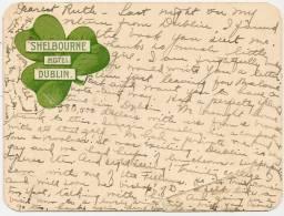 DUBLIN - Shelbourne Hotel ++++++ To Des Moines, IOWA, USA, 1904 +++++ 4.5 X 3.5 Inches ++++ - Dublin