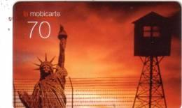 FRANCE MOBICARTE STATUE LIBERTE LIBERTY MIRADOR VIEWPOINT 70U UT RARE - Cultura