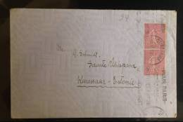 France: Used Cover Sent To Estonia With Special Propaganda (?) Postmark - Fine And Rare - Frankreich