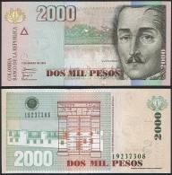 Colombia P 457 A - 2000 2.000 Pesos 7.3.2005 - UNC - Colombie