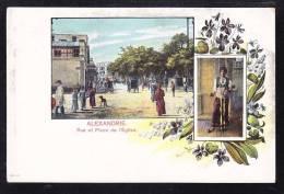 EGY-51 ALEXANDRIE RUE AT PLACE DE L'EGLISE - Alexandria