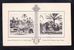 EGY-56 ERGYPT CAMP OF BEDOUINS IN AN OASIS ERGYPT - Egypte