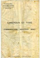 Carte Cameroun Et Togo Communications Industries Mines - Cartes Géographiques