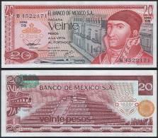 Mexico P 64 D - 20 Pesos 8.7.1977 - UNC - Mexico