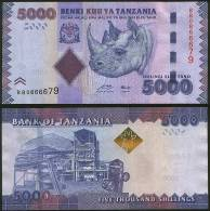 Tanzania P 43 - 5000 5.000 Shilingi Shillings 2010 2011 - UNC - Tanzania