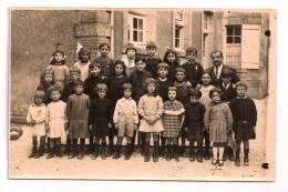 Photo De Classe, élèves, école - Carte-Photo édit. Delassalle & Coron - à Localiser à Caen Ou Aux Environs - 2 Scans - - Francia