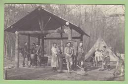CHAMARANDE, Années 20 : Les Cuisines, Repas Du 23 Avril. Scouts De France. 2 Scans. CARTE PHOTO - Scoutisme