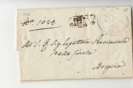 DC376-1829 Lettera BOGLIACO-BRESCIA-lineare CARTELLA Di GARGNANO In PARTENZA+timbro UFFICIO MITTENTE - 1. ...-1850 Prefilatelia