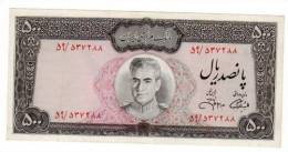 Iran Billet 500 Rials ND (1971-1973) P93 SHAH NEUF UNC - Iran