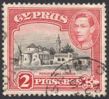 Cyprus, 2 Pi. 1942, Sc #147B, Mi # 144A, Used - Cipro (...-1960)
