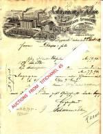 Lettre Superbement Illustrée De 1902 HERGENRATH - SCHNEINEM & KLEIN - Streichgarn-Spinnerei - Unclassified