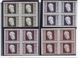 AUSTRIA AUTRICHE OESTERREICH 1946   RENNER 4 VALORI  IN QUARTINA MNH** - 1945-60 Unused Stamps