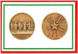 [DC1653]  CARTOLINEA - DI MEDAGLIA IN MEDAGLIA - 150° DELLA 2° GUERRA D´INDIPENDENZA - STELLA D´ITALIA INTORNO I COMUNI - Monnaies (représentations)