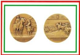 [DC1652]  CARTOLINEA - DI MEDAGLIA IN MEDAGLIA - III CENTENARIO DELLA BATTAGLIA DI TORINO- IL PRINCIPE EUGENIO DI SAVOIA - Monete (rappresentazioni)