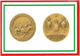[DC1651]  CARTOLINEA - DI MEDAGLIA IN MEDAGLIA - 60° ANNIVERSARIO DELLA CAVALLERIA ITALIANA - CARICA DI CAVALLERIA - Monnaies (représentations)