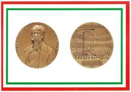 [DC1654]  CARTOLINEA - DI MEDAGLIA IN MEDAGLIA - VITTORIO EMANUELE II - 150° ANNIVERSARIO DEL REGNO D´ITALIA - Monete (rappresentazioni)