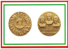 [DC1650]  CARTOLINEA - DI MEDAGLIA IN MEDAGLIA - 150° ANNIVERSARIO PRIMA GUERRA PER L´INDIPENDENZA-BICENT. DELLA MARMORA - Monete (rappresentazioni)