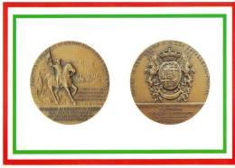 [DC1648]  CARTOLINEA - DI MEDAGLIA IN MEDAGLIA - III° CENTENARIO NIZZA CAVALLERIA - I DRAGONI DI PIEMONTE - Monete (rappresentazioni)