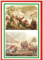 [DC1644]  CARTOLINEA - 150° UNITA´ D´ITALIA - 1866 GLI ITALIANI SI AVVICINANO A TRENTO - LA PRESA DI BEZZECCA - Storia