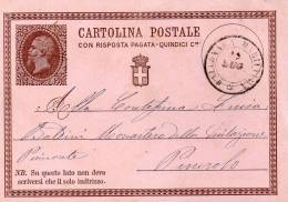 CARTOLINA CON ANNULLO FALCONARA MARITTIMA ANCONA - 1861-78 Vittorio Emanuele II