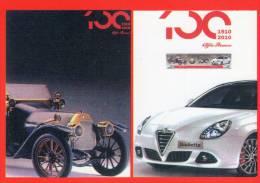 [DC1363]  CARTOLINEA - CENTENARIO DEL MARCHIO ALFA ROMEO - 1910/2010 - Cartoline