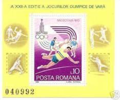 ROMANIA 1980 SPORT OLYMPIC MOSCOW SC # 2968 MNH - 1948-.... Republiken
