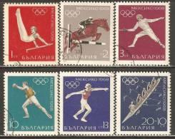 Bulgaria 1968 Mi# 1810-1815 Used - 19th Olympic Games, Mexico City - Usados