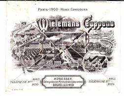 """Env.7 Av.tr.beau Repiquage Illustré """"Wielemans-ceuppens-Bxl-Midi""""càd Bxl-midi 25 Aout 04 V.Anvers.TB Et R - Belgique"""