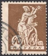 Bavaria, 40 Pf. 1920, Sc # 243, Mi # 183, Used - Bavière
