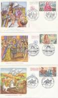 FDC Série Historique Richelieu, Louis XIV, Bataille De Fontenoy (Obl LA ROCHELLE, VERSAILLES & PARIS Du 17.10.1970) - FDC