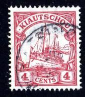 (644)  Kiautschou 1905  Mi.30 Used Sc.35 Wz (1.50 Euros) - Colony: Kiauchau