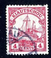 (649)  Kiautschou 1905  Mi.30 Used Sc.35 Wz (1.50 Euros) - Colony: Kiauchau