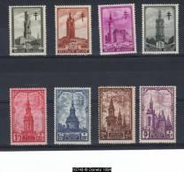 519 / 526 ** Série Les Beffrois Postfris T10748 - Belgique
