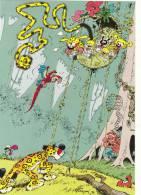 FRANQUIN. Le Nid Du Marsupilami. RARE Puzzle En Cartes Postales. 4 CP + 1. Dessin Original 1986. Salon BD Charleroi, Be. - Cartes Postales