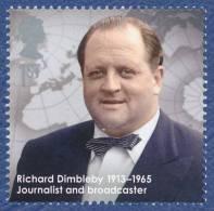ROYAUME UNI Richard Dimbleby Commentateur Britannique BBC.  Radio Nationale Britannique Neuf**. Planisphère. - 1952-.... (Elizabeth II)