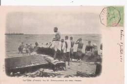 LA COTE D'IVOIRE 21 EMBARQUEMENT DES BILLES D'ACAJOU 1904 (BELLE ANIMATION) - Côte-d'Ivoire