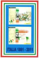 [DC1497]  CARTOLINEA - RIPRODUZIONE FRANCOBOLLI: GIUSEPPE GARIBALDI E GIUSEPPE MAZZINI (2 DI 4) - Francobolli (rappresentazioni)