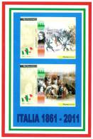 [DC1498]  CARTOLINEA - RIPRODUZIONE FRANCOBOLLI: VINCENZO GIOBERTI - CLARA MAFFEI E CRISTINA TRIVULZIO BELGIOIO (3 DI 4) - Francobolli (rappresentazioni)
