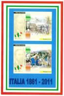 [DC1499]  CARTOLINEA - RIPRODUZIONE FRANCOBOLLI: CARLO CATTANEO E CARLO PISACANE (4DI 4) - Briefmarken (Abbildungen)