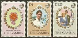 THE GAMBIA 1981 MNH Stamp(s) Wedding Diana 424-426 #6015 - Royalties, Royals