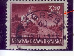 LANDSCAPES-3.50-K-TRAKOSCAN CASTLE-ERROR-POSTMARK-ZAGREB-NDH-CROATIA-1943 - Kroatien