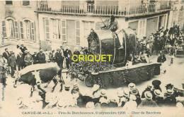 Cpa 49 Candé, Fête De Bienfaisance, 1906, Char De Bacchus - Other Municipalities