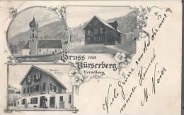Cpa Suisse SWISS  Gruss Aus Burserberg  Vorarlberg  Carte Mosaique 1906 - Ohne Zuordnung