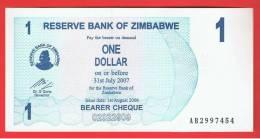 ZIMBABWE - 1 Dolar  2006  SC  P-37 - Zimbabwe