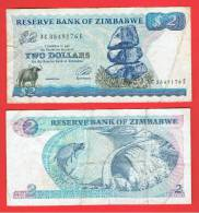 ZIMBABWE - 2 Dolar 1983 Circulado  P-1 - Zimbabwe