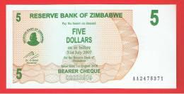 ZIMBABWE - 5 Dolar  2006 SC  P-38 - Zimbabwe