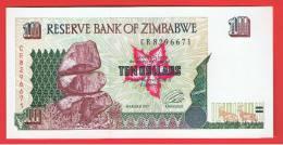 ZIMBABWE - 10  Dolar  1997 SC  P-7 - Zimbabwe